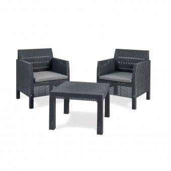 Conjunto Jardim Mesa e Cadeiras 2 Lugares - Toomax
