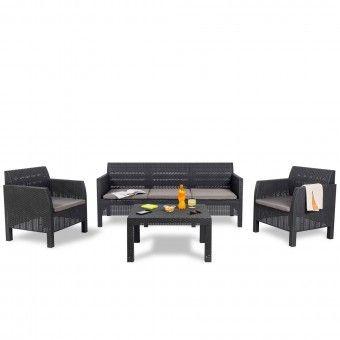 Conjunto Jardim Mesa e Cadeiras 5 Lugares - Toomax