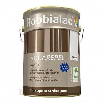 Tinta Aquarepel Mate Branco 5L - Robbialac