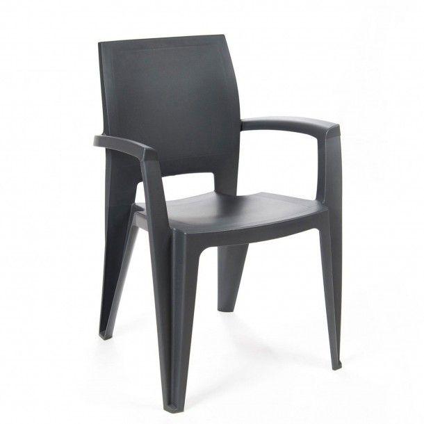 Cadeira Elegance Lisa com Braços Resina