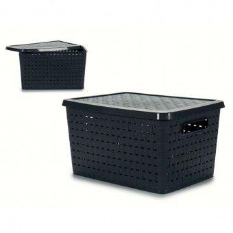 Caixa de Arrumação Decorativa Ratan 40L