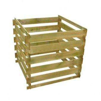 Caixa de Compostagem Madeira 100x100x100cm