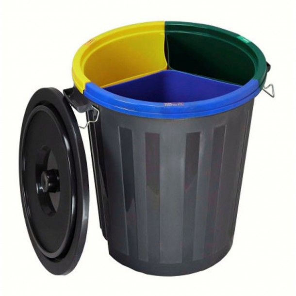 Balde Reciclagem com Tampa 50L