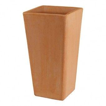 Vaso de Barro Quadrado Alto - Nº 51