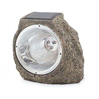 Candeeiro Solar Formato Pedra LED